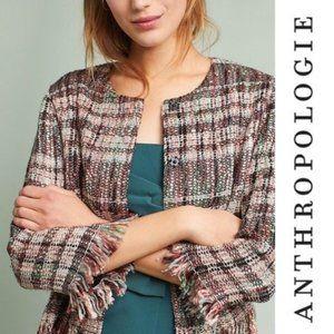 Anthropologie Ett:Twa NEW Fringed Academy Jacket